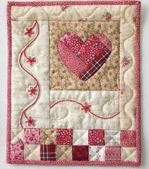 Shabby Chic Wall Quilt Heart Decor by LittleTreasureQuilts ... & Shabby Chic Wall Quilt Heart Decor by LittleTreasureQuilts Adamdwight.com