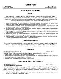 Easy To Use Resume Template For An Accounting Assistant Or Entry
