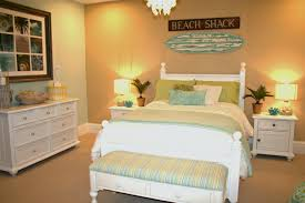 beach bedroom furniture. Beach Themed Bedrooms With Orange Wall And Brown Strip Carpet Combined White Wooden Bed Furniture Also Green Set Bedroom I