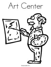 Small Picture Art Center Coloring Page Twisty Noodle