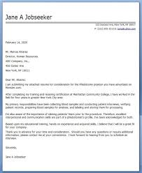 Cover Letter Phlebotomy Creative Resume Design Templates Word
