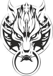 Final Fantasy Advent Children Wolf Logo Vector (.CDR) Free Download