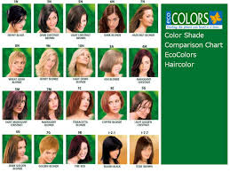 Eco Color Hair Color Chart