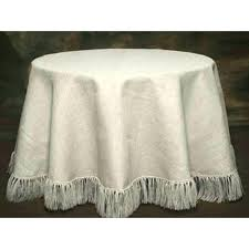 white fabric tablecloth round linen tablecloths sequin throughout designs 5