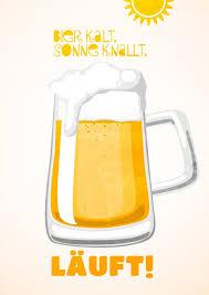 Bier Kalt Sonne Knallt Urlaubsgrüße Postkarten Aus Aller Welt