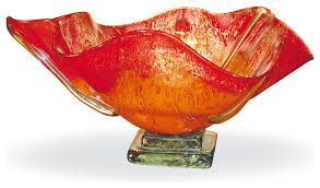 Decorative Red Glass Bowls Red Glass Bowl Decor Home Decorating Ideas 14