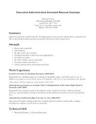 Examples Of Administrative Assistant Resumes Administrative Assistant Resume Objective Statement Examples