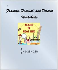 Fractions, Decimals And Percents Worksheets Teaching Resources ...