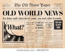 1800 Newspaper Template
