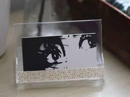 diy business card holder and desk calendar 0