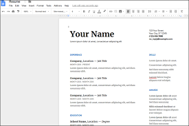 Using Google Docs Resume Template Resume Templates On Google Docs Google Docs Resume Templates Free To