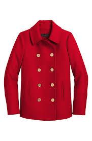 j crew heritage wool blend peacoat bright red peacoats winter 2018 women