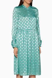 Shop Baum Und Pferdgarten Green Green Floral Agacia Dress