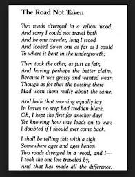 "melhores ideias de poemas de robert frost no  robert frost ""the road not taken"" ""el camino no elegido"""