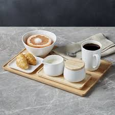 How to set up a tea tray. Merge Cream And Sugar Set Reviews Crate And Barrel Cream And Sugar Coffee Tray Wood Tray