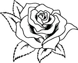heart rose coloring pages roses of pictures hearts and