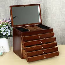 Large Wooden Boxes To Decorate Convenient 100 Layers Large Vintage Retro Classic Wooden Jewellery 57