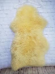 ikea rens sheepskin rug 28x16 cream throw chair cover new fuzzy fur warm