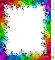 colorful paint splatter border. Colorful Paint Splatter Border For Dreamstimecom
