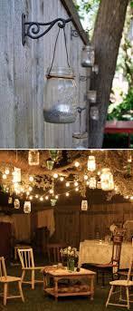 outdoor mason jar lights diy designs