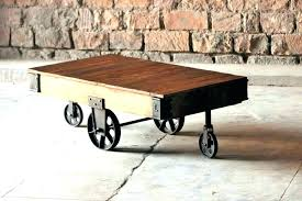 industrial cart table factory cart coffee table x coffee table on