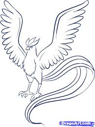 Pokemon Coloring Pages Articuno Articuno Pokemon Bird Coloring Page