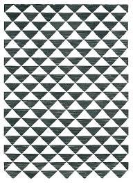 black geometric rug and white wool hooking designs target go