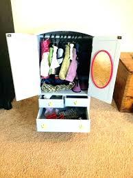 18 inch doll wardrobe clothes dresser girl plans doll wardrobe inch doll closet plans and doll