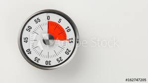 Vintage Analog Kitchen Countdown Timer 15 Minutes Remaining