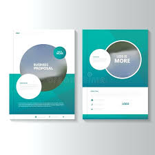 Green Brochure Template Circle Brochure Template Free Download Polygon Green Blue Annual