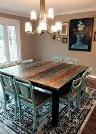 Good Table Salle à Manger Carrée En Bois Et Chaises Vintage