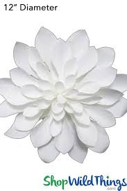 White Paper Flower Wall Giant Paper Roses White Paper Flower Wall Shopwildthings Com