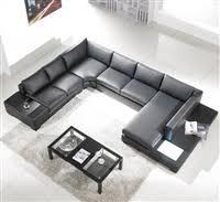 Modern black furniture Black King Bedroom Modern Black Leather Sectional Living Room Furniture On Special Impressive Home Design Ideas Contemporary Furniture Modern Furniture Outlet Modern Living
