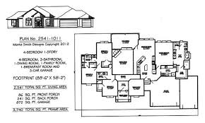 1 story house plans. 4 Bedroom, 1 Story House Plans