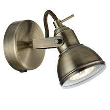 special offer searchlight 1541ab focus antique brass single spotlight