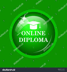online diploma icon internet button on stock illustration  online diploma icon internet button on green background