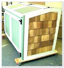 original outdoor trash can enclosure outside storage garbage cabinet antique outdo