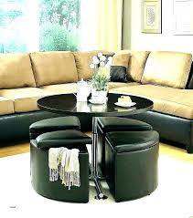 coffee table and ottoman set ee circle with storage blvd dark brown