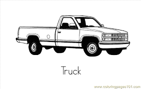 Pick Up Truck Coloring Pages To Print Murderthestout