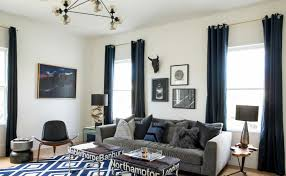 decorist sf office 13. Masculine Navy Den With Texture And Mixed Materials Decorist Sf Office 13