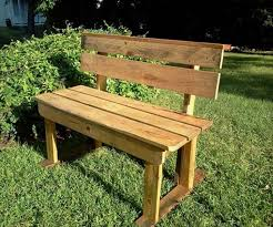 garden bench diy ideas. handmade garden pallet bench with backrest diy ideas f