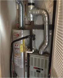water heater in tight closet