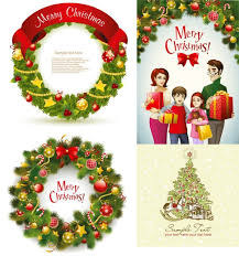 60 Free Christmas Vector Design Resource For Greeting Cards