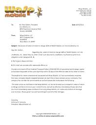 rescind letter rescission of letter of intent to merge 100 of wasp mobile llc into