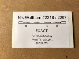 Elgin Mainspring Chart Details About Waltham Mainspring For 16s No 2218 2267 Exact Alloy