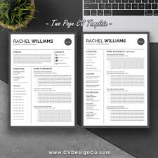 Page Resume Template Two Format Download In Ms Word Example Free