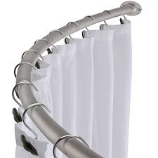 bennington adjule double curved shower curtain rod satin pertaining to sizing 1800 x 1800