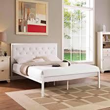 Mia Bedroom Furniture Modway Mia Queen Vinyl Bed Frame Multiple Colors Walmartcom