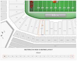 San Francisco 49ers Levis Stadium Seating Chart