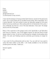 Examples Of Letter Recommendation Template Immigration Reference For ...